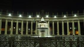 Fonte no quadrado de vatican video estoque