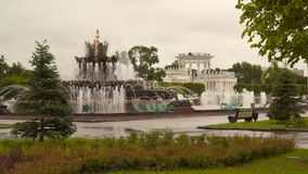A fonte no VDNKh em Moscou Imagens de Stock Royalty Free