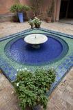 Fonte nos jardins de Majorelle Imagem de Stock