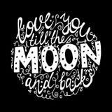 Fonte per l'illustrazione del fondo del nero della luna Fotografie Stock