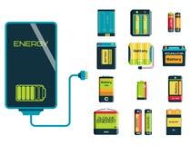 Fonte positiva do combustível da carga da eletricidade da ferramenta da energia da bateria e indústria alcalina componente da ger ilustração do vetor