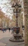 Fonte Ramblas de Barcelona Canaletas fotos de stock