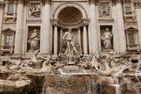 Fonte Roma do Trevi Fotos de Stock Royalty Free