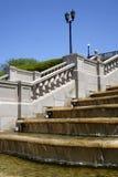 Fonte, Stairway e Lamppost foto de stock