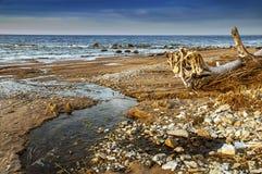Fonte sulla costa di mare Fotografie Stock