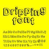 Fonte tipografica astratta della sgocciolatura Immagini Stock