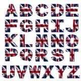Fonte tipografica britannica della bandierina Immagine Stock Libera da Diritti