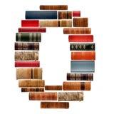 Fonte tipografica composta di spine dorsali dei libri Immagine Stock