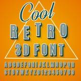 fonte tipografica 3D Fotografia Stock