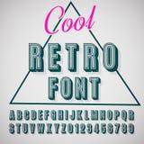 fonte tipografica 3D Immagini Stock