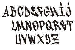 Fonte tipografica dei graffiti Fotografia Stock