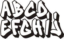Fonte tipografica dei graffiti (parte 1) Fotografia Stock