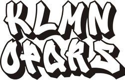 Fonte tipografica dei graffiti (parte 2) Fotografia Stock Libera da Diritti