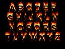 Fonte tipografica del fuoco Immagine Stock