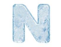 Fonte tipografica del ghiaccio Fotografie Stock