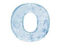 Fonte tipografica del ghiaccio Immagini Stock Libere da Diritti