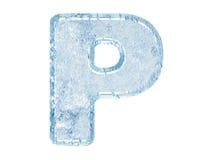 Fonte tipografica del ghiaccio Fotografia Stock