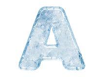 Fonte tipografica del ghiaccio Immagini Stock