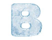 Fonte tipografica del ghiaccio Immagine Stock Libera da Diritti