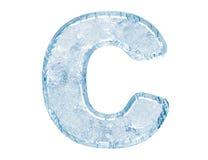 Fonte tipografica del ghiaccio Fotografia Stock Libera da Diritti