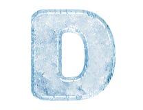 Fonte tipografica del ghiaccio Immagine Stock