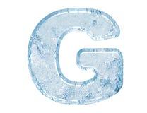 Fonte tipografica del ghiaccio Fotografie Stock Libere da Diritti
