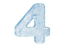 Fonte tipografica del ghiaccio. Numero quattro Immagine Stock Libera da Diritti
