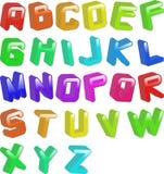 Fonte tipografica del Jellybean Fotografia Stock