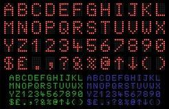 Fonte tipografica del LED Fotografia Stock