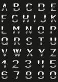 Fonte tipografica del metallo Fotografia Stock