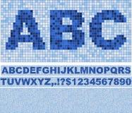 Fonte tipografica del mosaico. Fotografia Stock