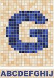 Fonte tipografica del mosaico. A-J Immagine Stock Libera da Diritti