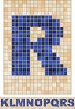 Fonte tipografica del mosaico. K-S. Fotografia Stock Libera da Diritti