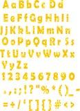 Fonte tipografica del succo di arancia Fotografia Stock Libera da Diritti