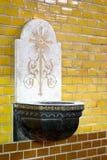 Fonte tipografica dell'acqua santa Fotografia Stock Libera da Diritti