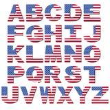 Fonte tipografica della bandiera americana Fotografie Stock Libere da Diritti