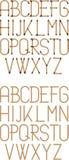 Fonte tipografica della corda stampata in neretto Immagine Stock