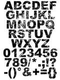 Fonte tipografica della graffiatura Immagini Stock