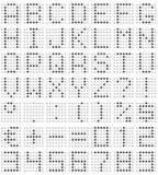 Fonte tipografica della matrice di punti Fotografie Stock Libere da Diritti