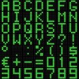 fonte tipografica della matrice di punti 3D con la riflessione Immagini Stock Libere da Diritti