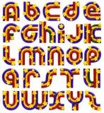 Fonte tipografica della stella e del Rainbow Fotografie Stock Libere da Diritti