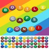 Fonte tipografica delle capsule Fotografie Stock