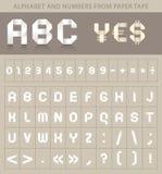 Fonte tipografica di ABC da di nastro di carta Immagine Stock Libera da Diritti