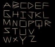 Fonte tipografica di alfabeto delle corrispondenze Fotografia Stock Libera da Diritti