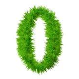 Fonte tipografica di alta risoluzione dell'erba isolata Fotografia Stock Libera da Diritti