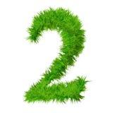 Fonte tipografica di alta risoluzione dell'erba isolata Immagine Stock Libera da Diritti