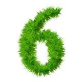 Fonte tipografica di alta risoluzione dell'erba isolata Fotografia Stock