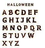 Fonte tipografica di Halloween Fotografia Stock