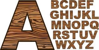 Fonte tipografica di legno Fotografie Stock