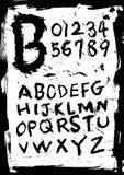 Fonte tipografica di stile di Grunge Fotografie Stock Libere da Diritti